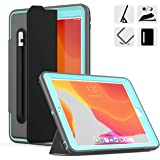 DUNNO New 10.2 Case 2019, Hybrid Leather Three Layer Heavy Duty Smart Cover with Auto Sleep/Wake Pencil Holder Stand…