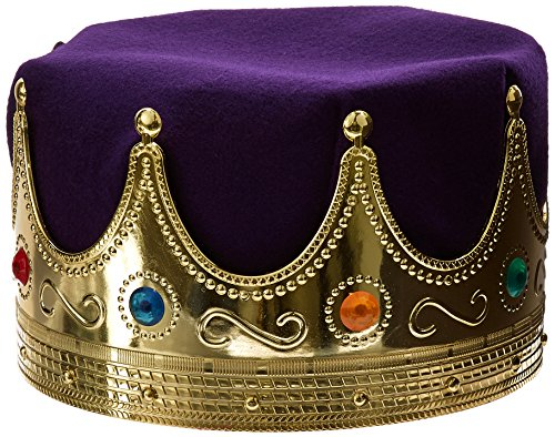 Jacobson Hat Company Men's Delux King's Crown, Purple, Adult
