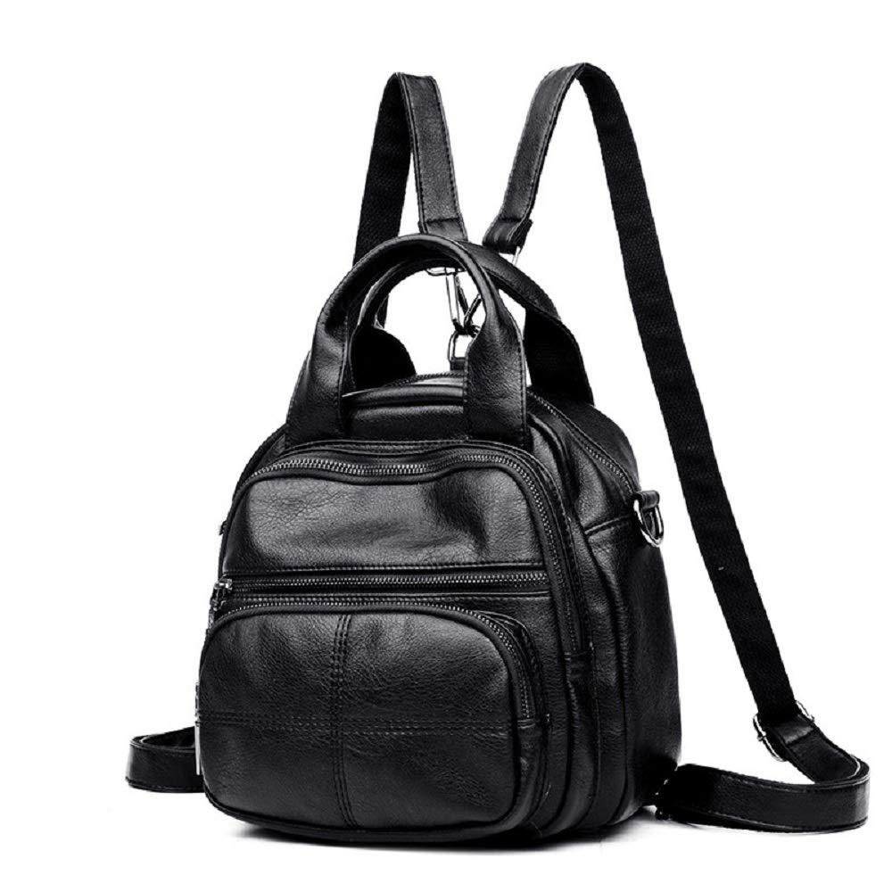 Zhrui Damen-Stilvolle Modische Rucksack-handliche zufällige Daypack (Farbe   Schwarz)