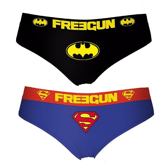 Freegun Pack de 2 Braguitas para Mujer DC Comics Batman Superman (S)
