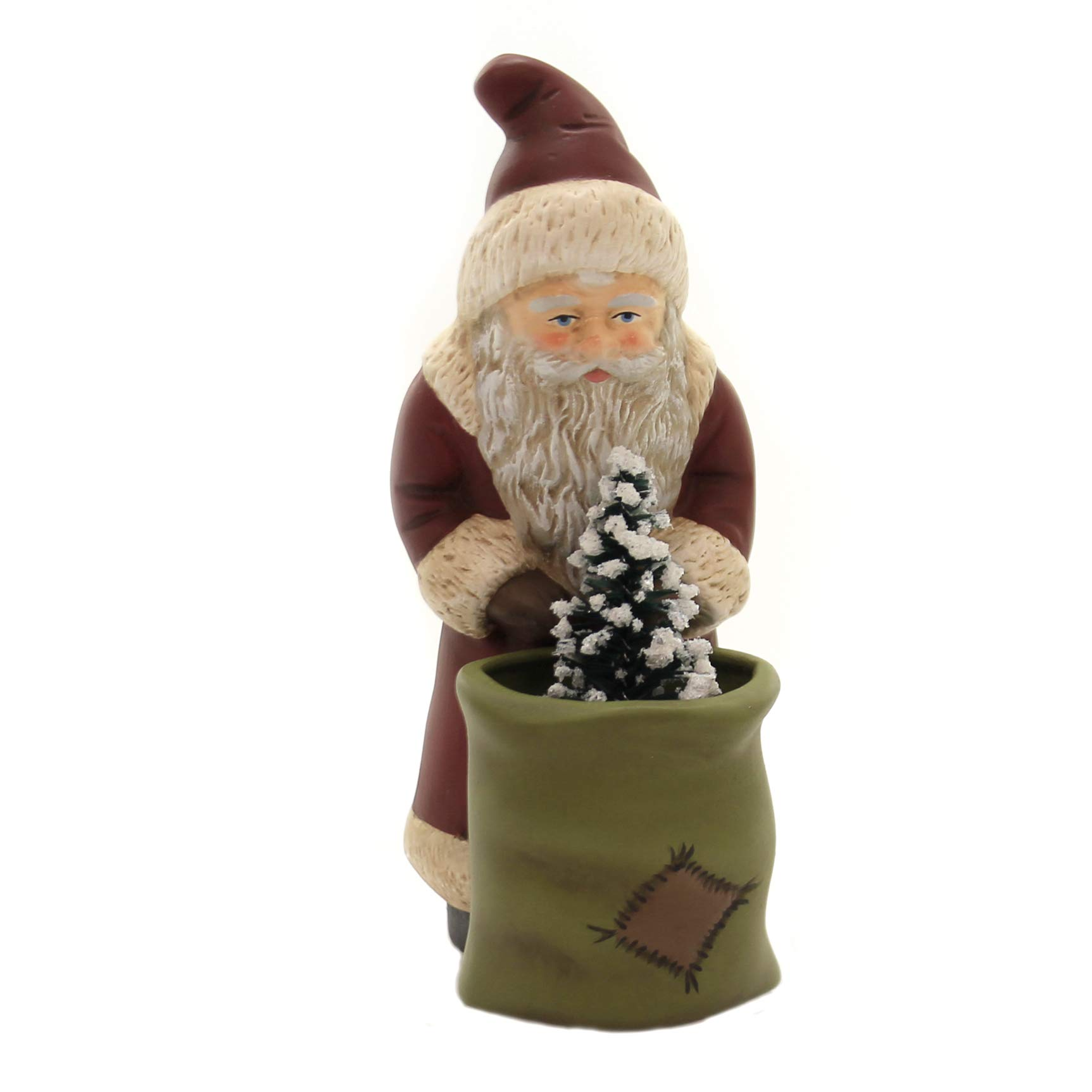 Marolin Santa w/Sack Paper Mache Christmas Nicholas German 640
