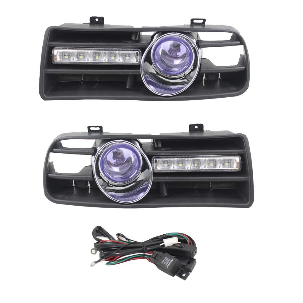 Gazechimp 2x Car Fog Light Lamp Grille Clear Lens For VW Jetta Bora 99-04