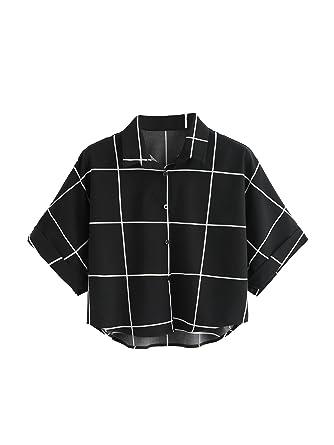 07abcf6dd9010 MAKEMECHIC Women s Summer Half Sleeve Dip Hem Plain Pocket T-Shirt Blouse  Crop Top
