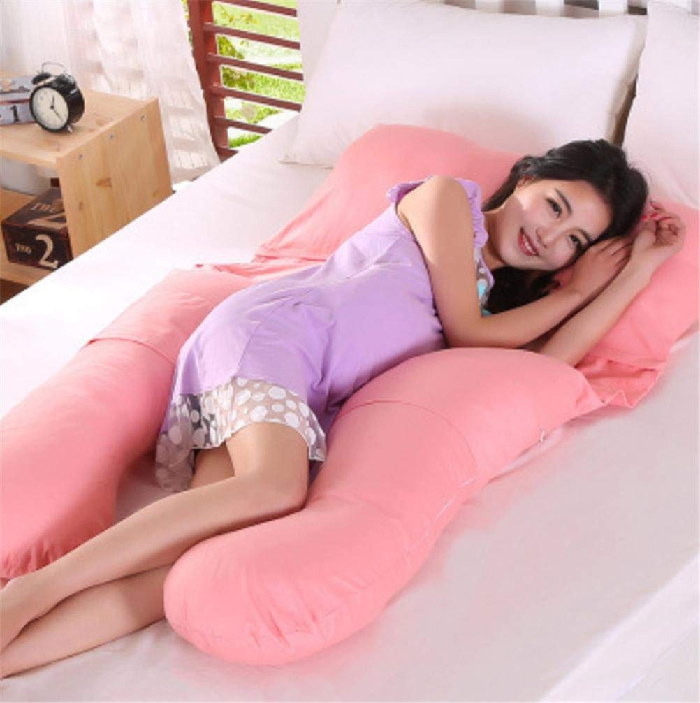 JaHGDU Versatile Maternity Pillow Lumbar Pillows Baby Products Soild Color Pink Sleeping Pillow for Women 80 140cm