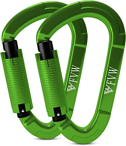 Rock Climbing Auto Locking Clip Duty Carabiner for Rappelling Rescue 25KN Heavy