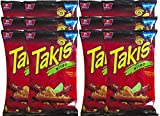 Barcel Takis Nitro Habanero & Lime Tortilla Chips Snack Care Package for College, Military, Sports 9.9 oz bag (12)