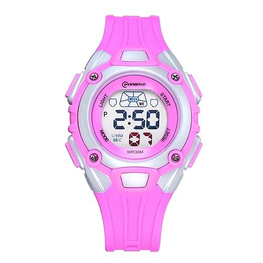 Impermeable reloj deportivo/Hora reloj digital/ reloj digital chicas-D: Amazon.es: Relojes