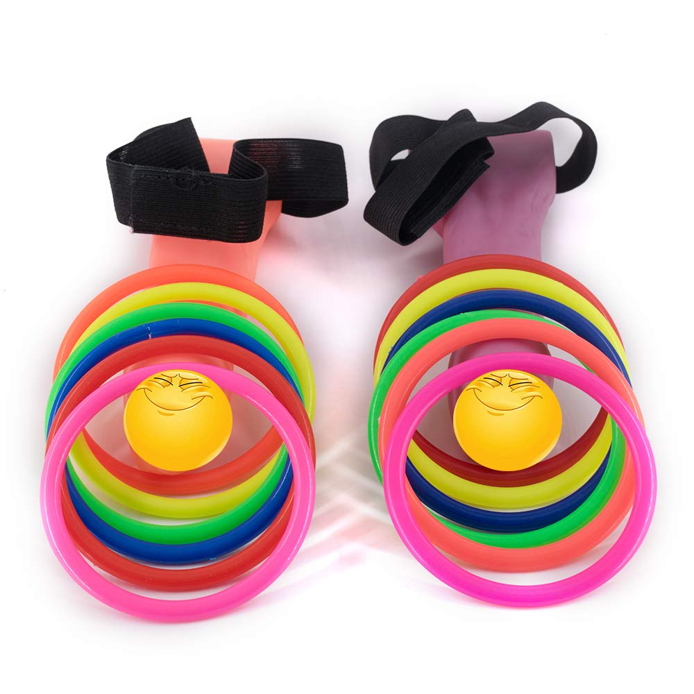 Bachelorette Party Games Decorations Dick Head Hoopla Ring Toss Games Set Adult Novelty Toy for Favor Hen Night Party Girls Night Out (2 Hooplas & 12 Neon Hoops)