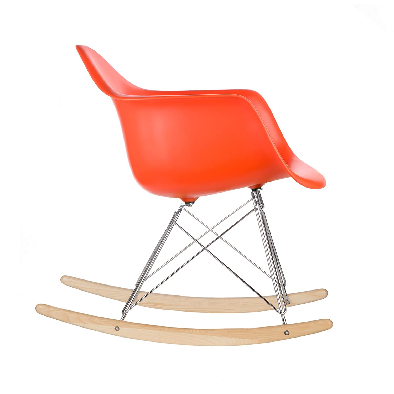 amazon com poly and bark rocker lounge chair orange kitchen