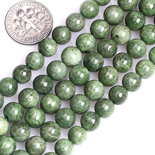 GEM-inside 8mm Natural Green Diopside Stone Gemstone Semi Precious Smooth Round Beads for Jewelry Making 15