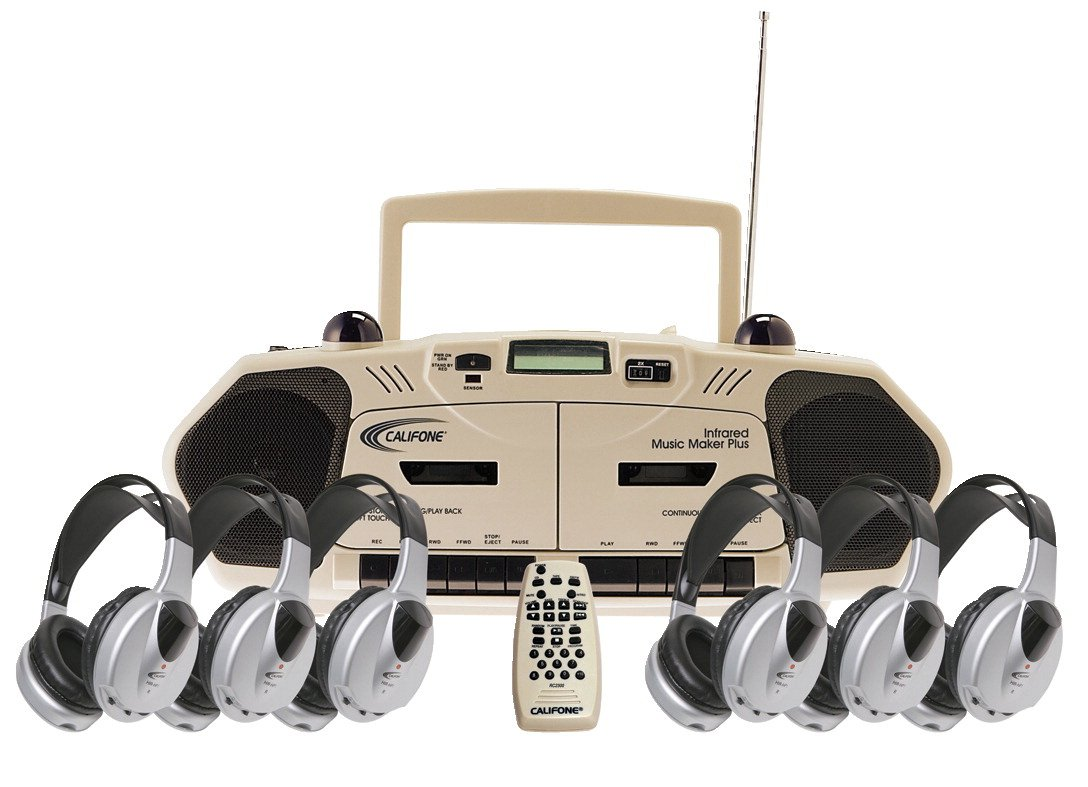 Califone 2395IRPLC-6 Wireless Infrared Cassette/Recorder Music Maker 6-Person Learning Center by Califone