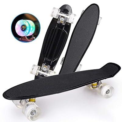 Completely Skateboarding-Flash PU Wheel Professional Skateboard, Wave Pattern, 57159.5cm, Adult-Teenage-Children Skateboarding : Sports & Outdoors