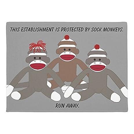 Amazon.com: Yours Dec Funny Sock Monkey Metal Tin Sign Wall Art ...