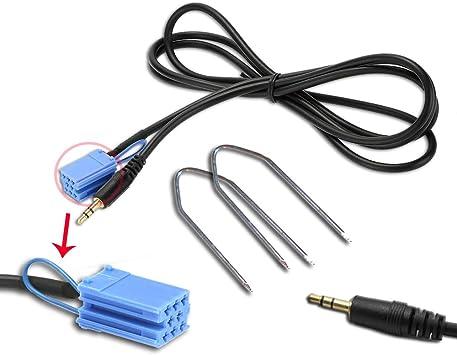 Aux en adaptador cable para alfa Fiat Lancia teléfono móvil iphone mp3 radio enchufe hembra