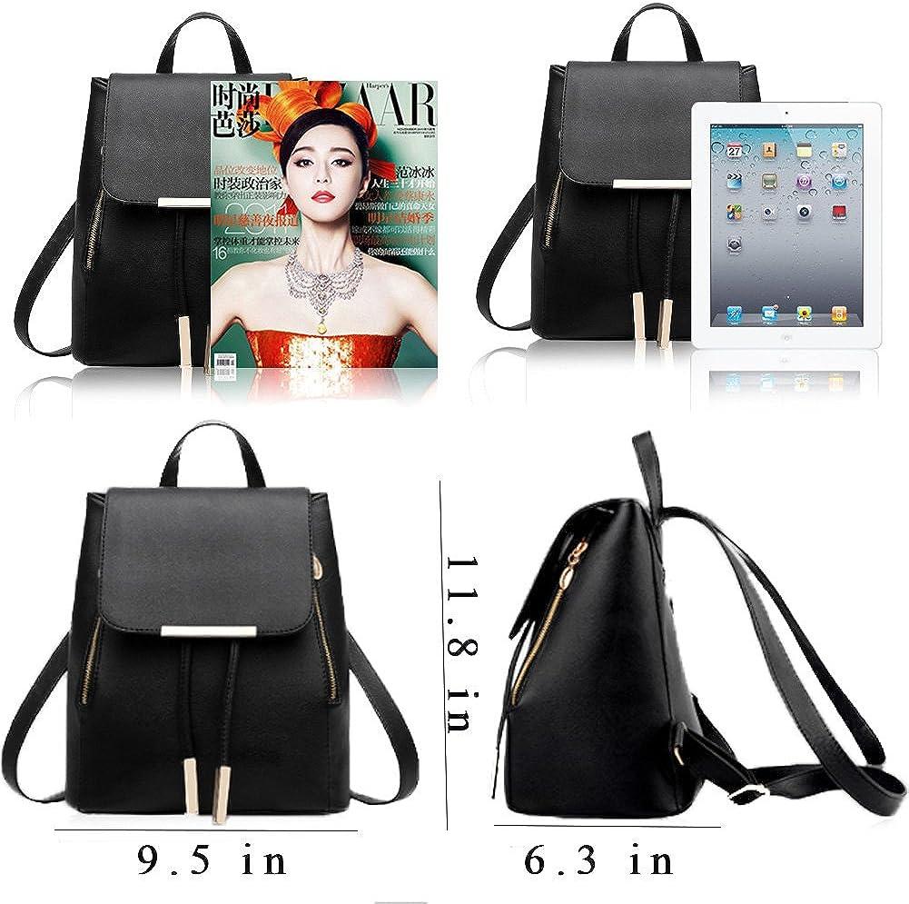 KARRESLY Womens Mini Backpack Purse PU Leather Rucksack Purse Ladies Casual Shoulder Bag for Women