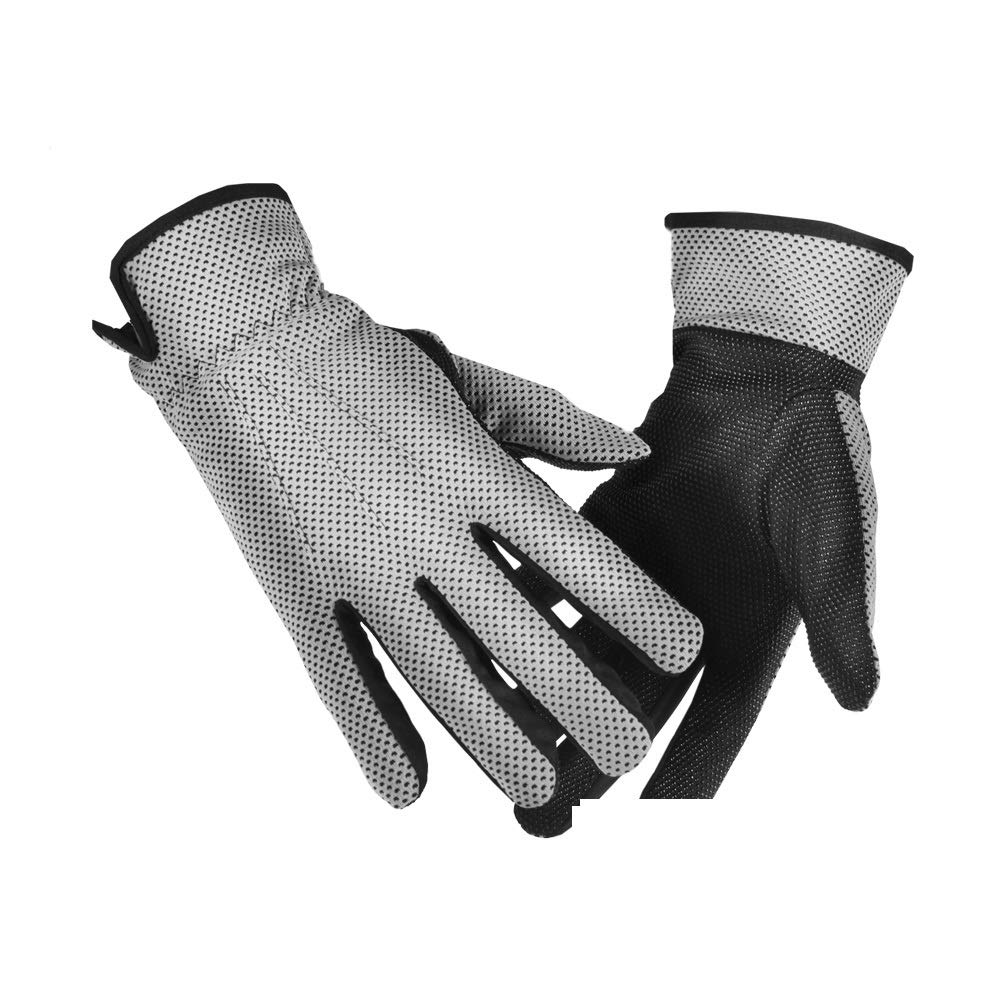 Comfortable Sun Protection Sun Protection Gloves UV Protection UPF50+ Breathable Wicking Sun Protection Gloves Durable (Color : Gray, Size : L-Five Pairs)