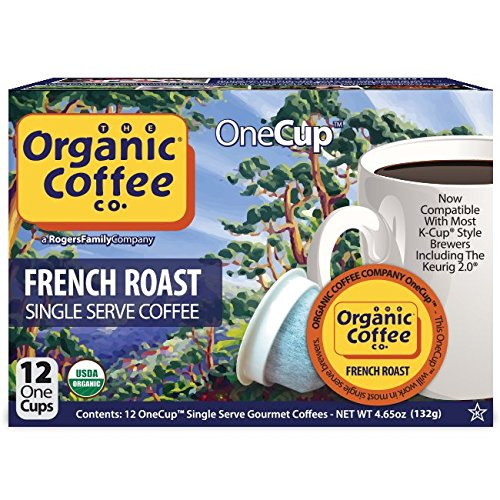The Organic Coffee Co. OneCup, French Roast, Single Serve Coffee K-Cup Pods...