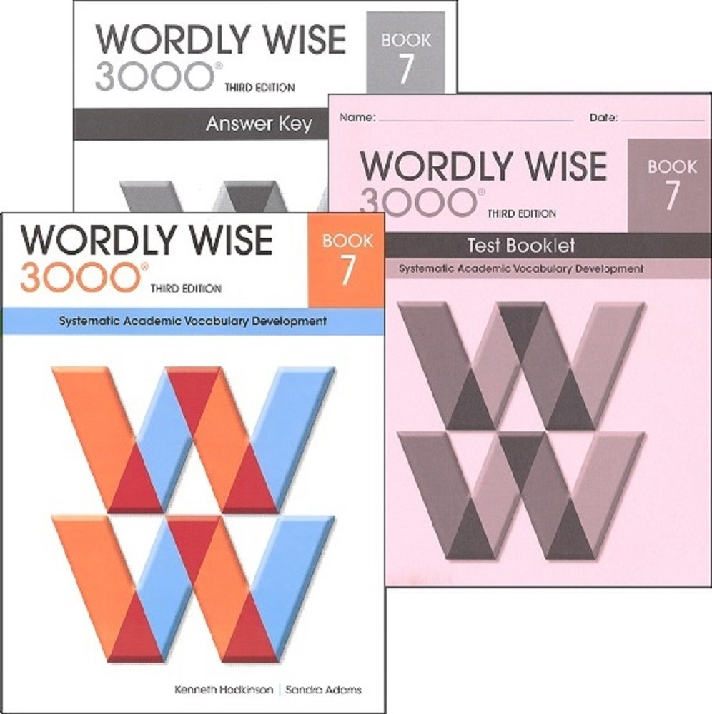 Wordly Wise 3000 Grade 7 SET -- Student, Answer Key and Tests (Systematic  Academic Vocabulary Development): Amazon.com: Books