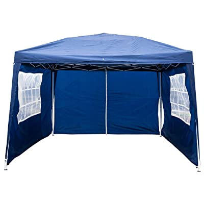 Takefuns Outdoor Canopy Tent, (118 x 118) Two Doors & Two Windows Practical Waterproof Folding Tent, Blue Sun Shelter Adjustable Folding Gazebo Party Tent : Garden & Outdoor