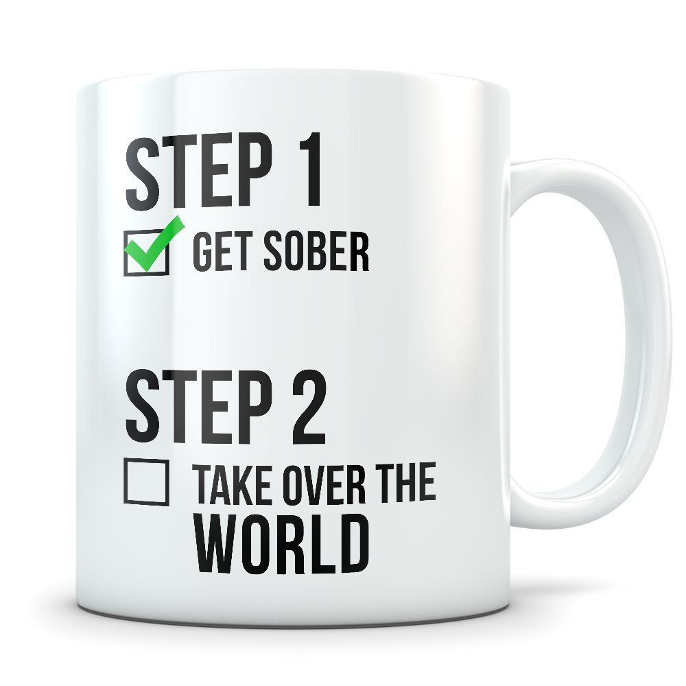 Amazon.com: Sobriety Gifts for Men and Women - Great AA Sobriety Coffee Mug for Motivation - Funny Alcoholics Anonymous Cup for Getting Sober: Kitchen & ...