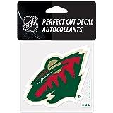 "NHL Minnesota Wild 02159013 Perfect Cut Color Decal, 4"" x 4"", Black"