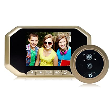 Puerta mirilla visor, kebidu 3,5 pulgadas cámara Digital con Sensor PIR de movimiento