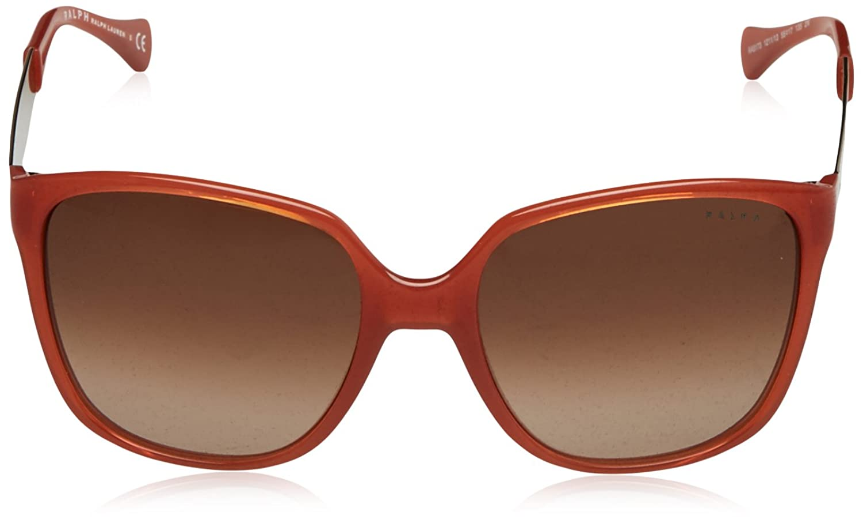 POLO Womens 0PH41181713 Sunglasses, Shiny Jerry Tortoise/Browngradient, 55 Ralph Lauren