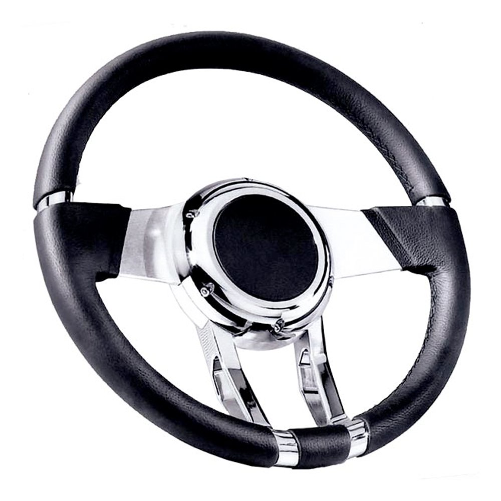 Flaming River FR20150 Black Waterfall Steering Wheel by Flaming River (Image #1)