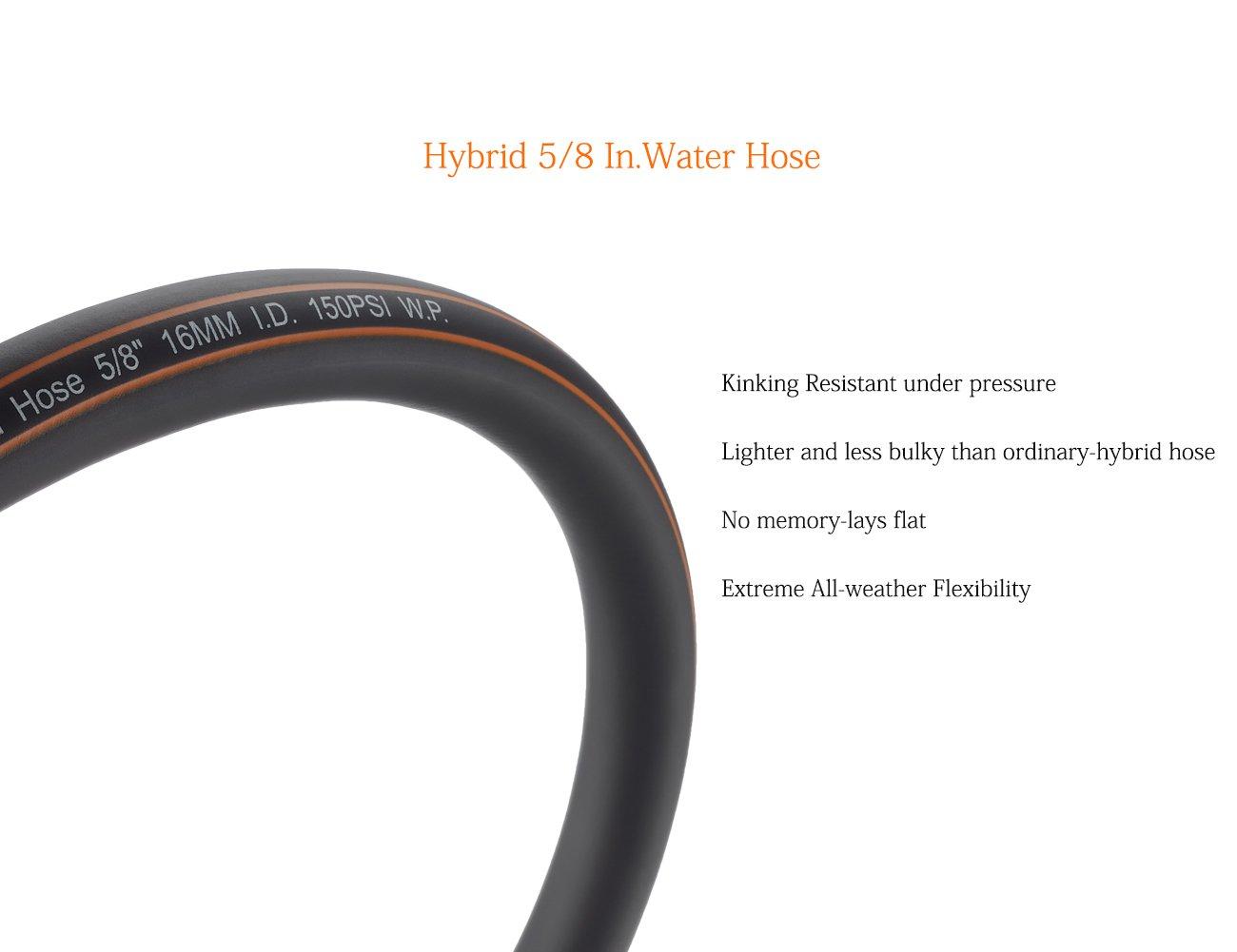 Giraffe Garden Hose Hybrid 5//8 in.x3FT Extension Water Hose SwivelGrip//Heavy Duty//Lightweight//Flexible Lead-Hose