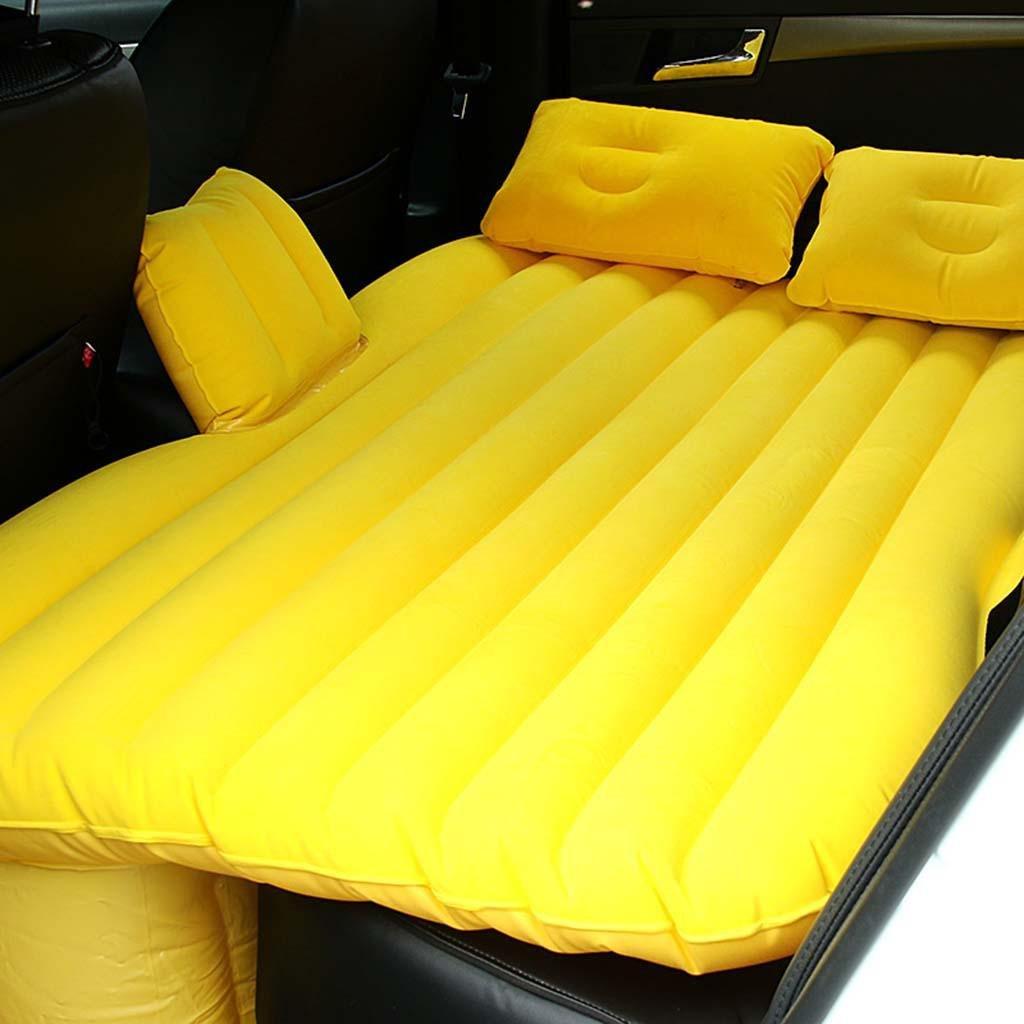 Um aufblasbare Pumpe / Auto bewegliche Drehmaschine / Auto Beflockung aufblasbare Reisebett / Auto Vibrationsmatratze / Auto Luftkissen Bett zu senden , yellow