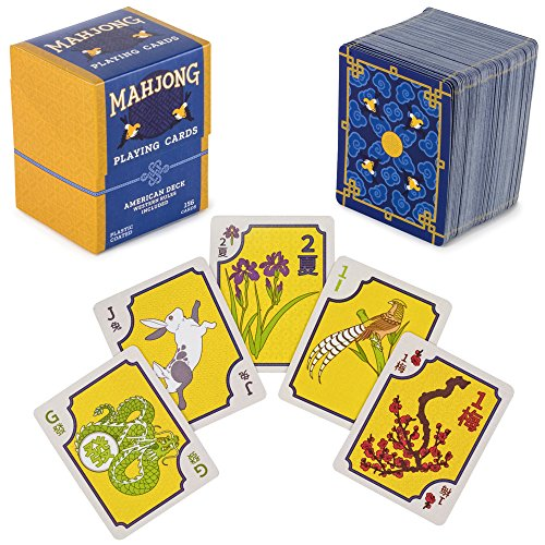 American Mahjong Playing Cards - 156-Card Deck for Chinese and Western Game Play, Includes Rules and Storage Box by Brybelly (Chinese Playing Cards Deck)