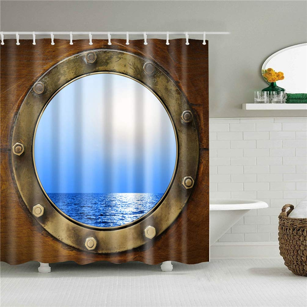 D/écor /à la Maison Rideaux De Douche 3D HD Belle Paysage Naturel Paysage Marin Motif Imprimer Motif /Écran De Bain Rideau