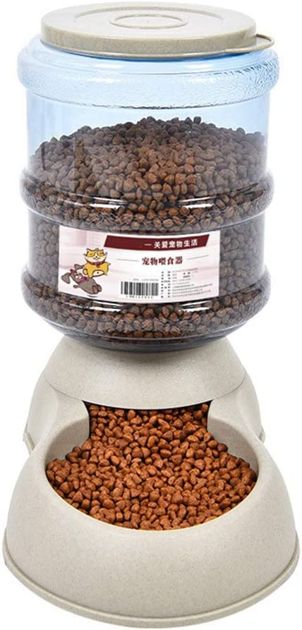 Dserw Automatic Pet Feeder and Water Dispenser, 3.75L Cat Dog Automatic Feeder Food Drink Animal Bowl Water Bowl Dispenser for Small Medium Dog Pets Puppy Kitten