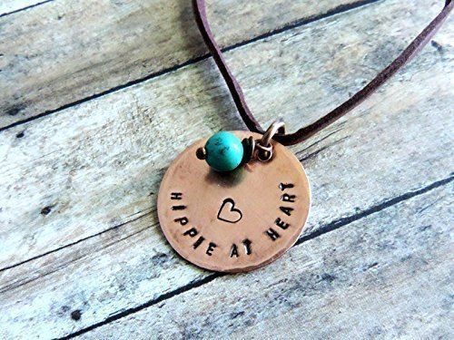 Carefree Heart - Hippie at Heart Boho Copper Pendant Necklace