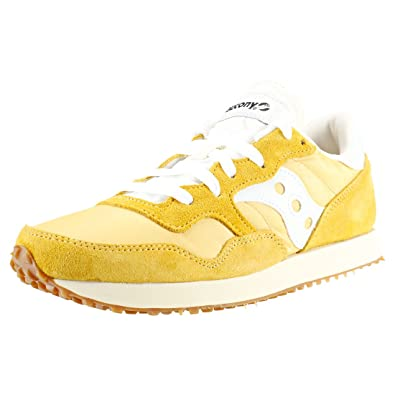 Saucony DXN Vintage Mens Trainers Yellow White 10 UK