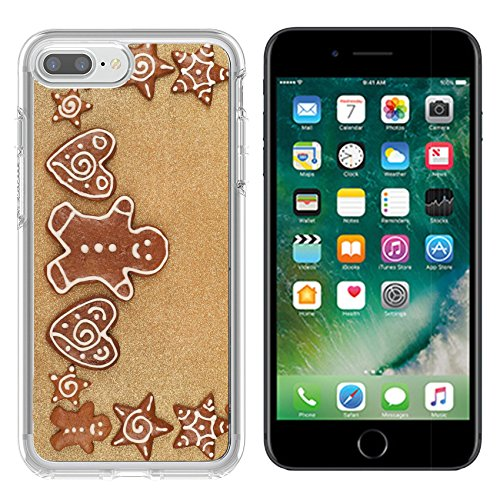 Luxlady Apple iPhone 7 plus/8 plus Clear case Soft TPU Rubber Silicone Bumper Snap Cases iPhone7 plus/8 plus IMAGE ID: 24873737 Homebaked Christmas Gingerbread Cookies border - Border Bread