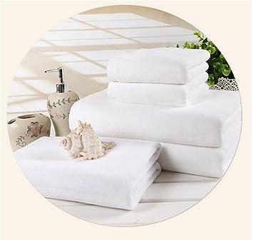 B BATH TOWEL HL Toalla De Algodón Blanco Sin Pelusa Absorbente, White, 50 * 80,White,50 * 80: Amazon.es: Hogar