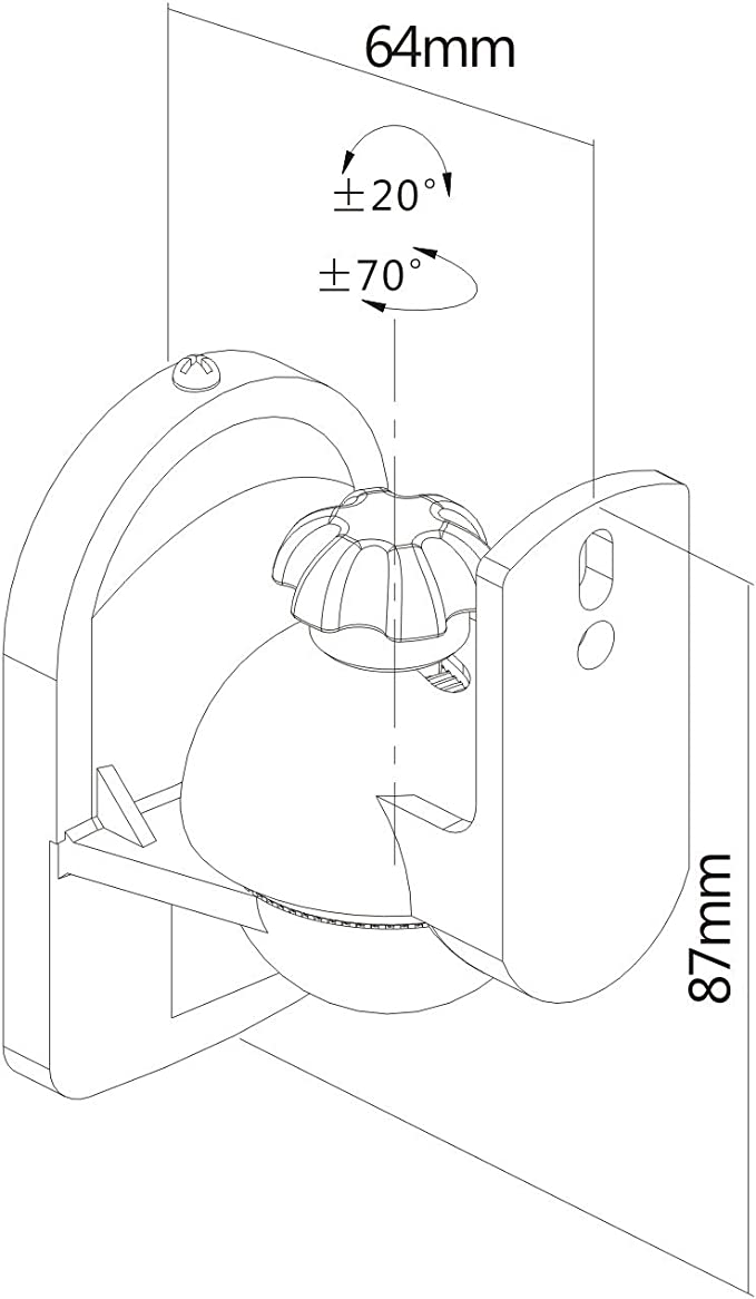 PureMounts Soporte universal para altavoces PM-Sound-A: Amazon.es: Electrónica