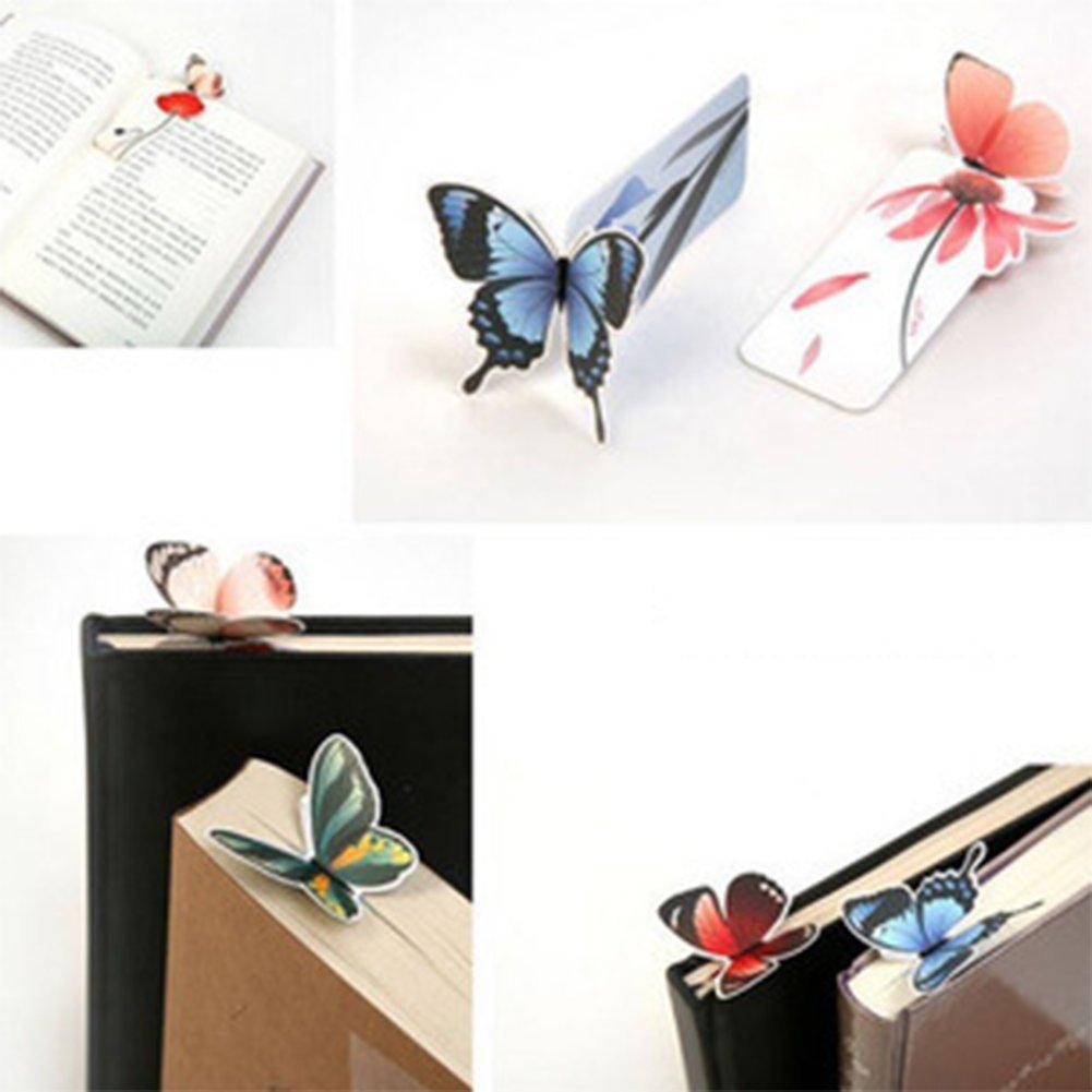 9,5/cm color al azar 3/cm lumanuby 10/x mariposa Marcadores libro marca de libro diccionario regalo papeler/ía