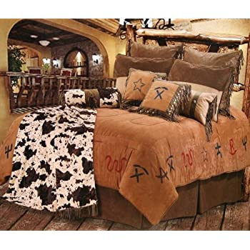 cowboy branded western bedding set king - Western Bedding