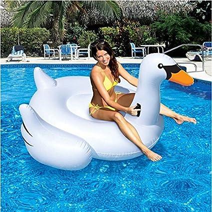 150 cm géant Swan Piscine Flotteur Eau FÊTE GONFLABLE JOUET Ride-on Piscine Anneau