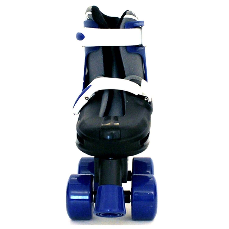 Sk8 Zone Boys Blue Black Quad Skates Padded Kids Roller Boots Safety Pads Helmet Childrens Skate Set Sk8 Zone By Eurotrade