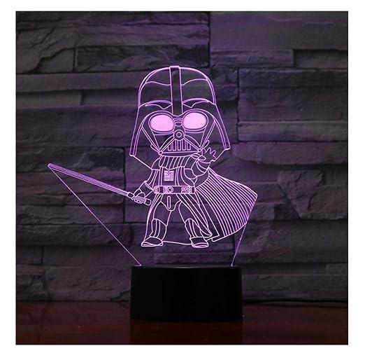 Lámpara De Luz De La Noche De 3D Led Star Wars Decoración ...
