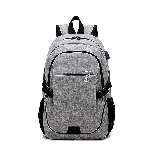 Amazon.com: Mochila para Portátil, Mochila para Viajes De Negocios, Antirrobo Y Duradera, Con Mochila Con Puerto De Carga USB, Mochila Escolar para Hombres ...