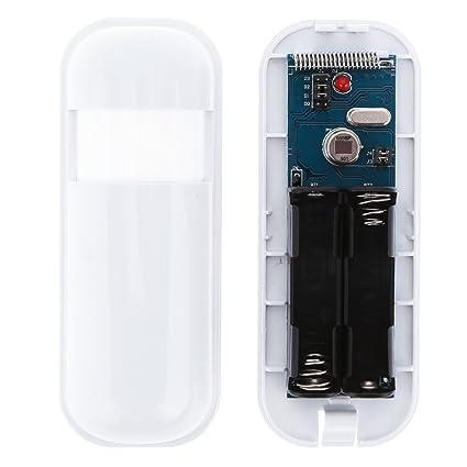 KKmoon Mini PIR Sensor Pasivo Infrarrojo Inalámbrico Detección de Movimiento Sistema de Alarma