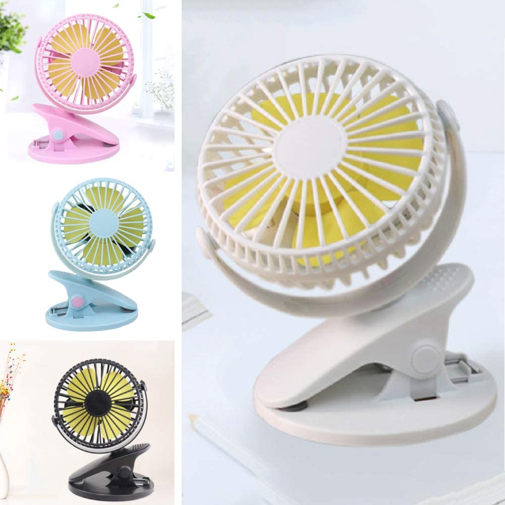 Blue Small/ USB Cooling Fan Mini Portable Handheld Cooling Desk/ Fan Clip Office Home Desktop Strong Wind Cooling Cooler Fan for Office Outdoor Traveling BBQ