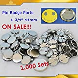 1000sets 1-3/4'' 44mm Metal Pin Badge Button Parts Supplies for N3 N4 on Sale!!