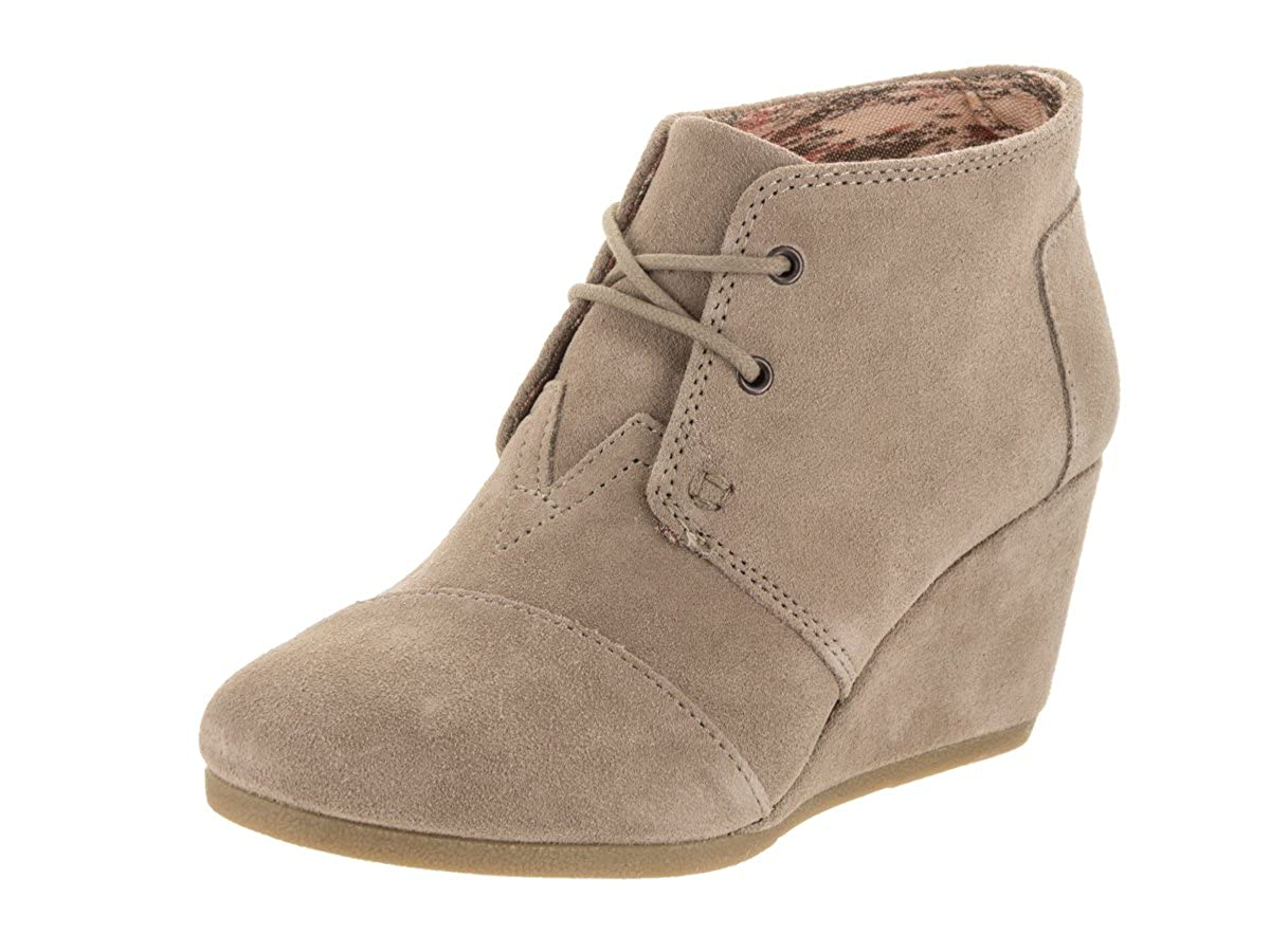a9d9c3f10eae TOMS Women s Desert Wedge Taupe Suede 5 B US B (M)