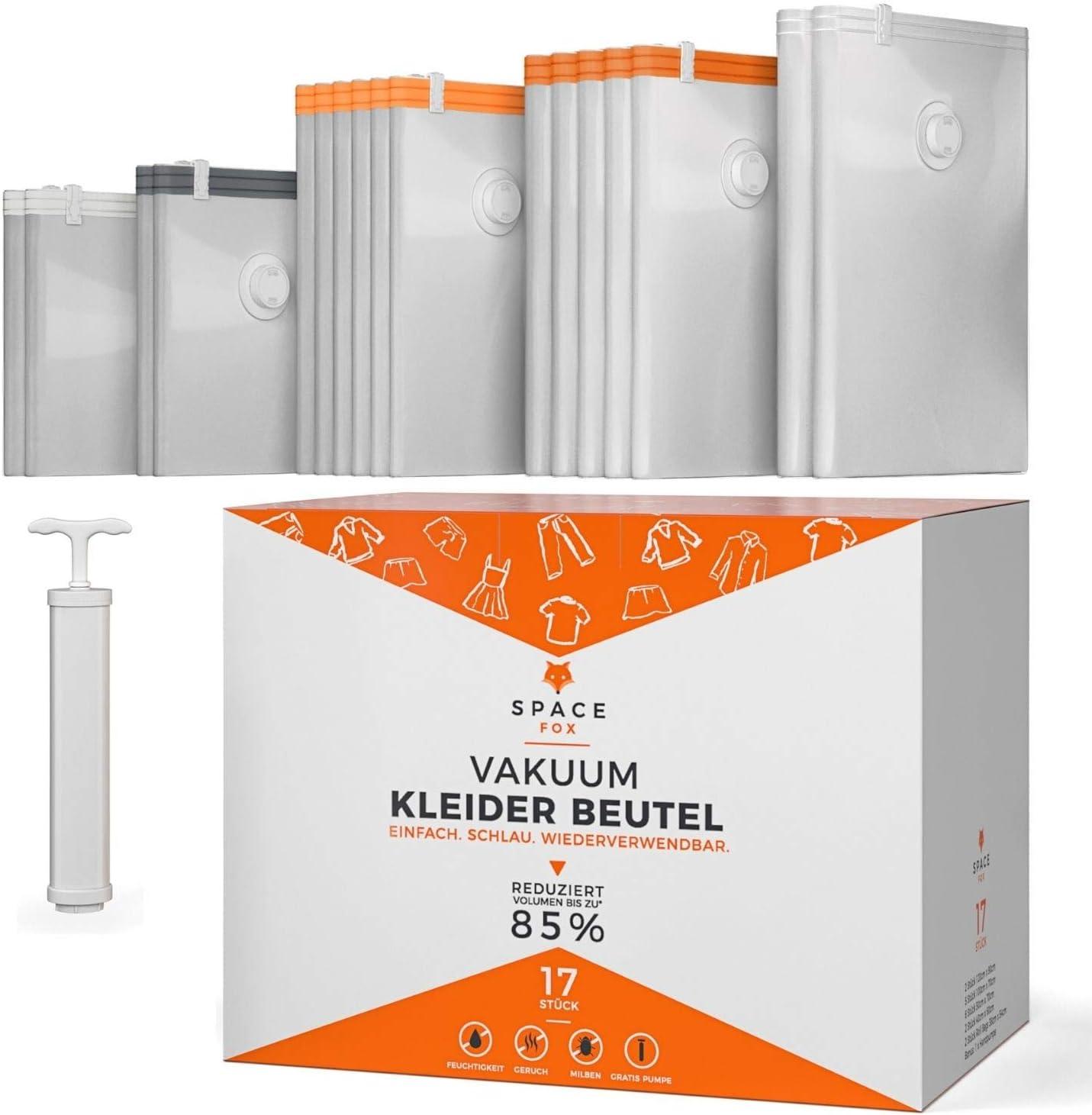 10x Original Smartfox Vakuum Aufbewahrungs Beutel 130x100cm Vacuum Kleider Tüte