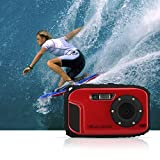 Fitiger Underwater 10m Waterproof Camera 2.7inch LCD 16MP Digital Camera 8X Zoom Compatible with Windows Vista/XP/7 System (Red)